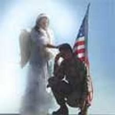 angel watching over soldier