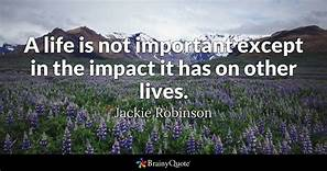 jackie robinson important life