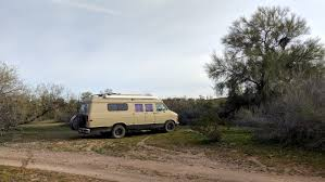 Van in the desert