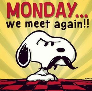 snoopy monday we meet again