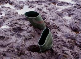 boots in the mud