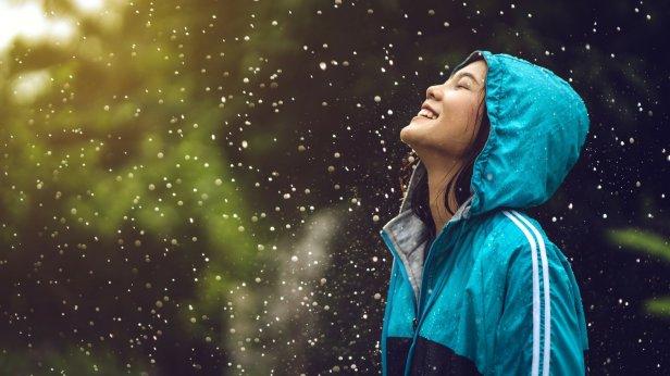 smile in rain